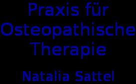 Praxis für Osteopathische Therapie - Natalia Sattel